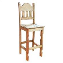 Barstool W/wood Seat