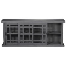 Adesso Large Storage Cabinet - Grey Wash