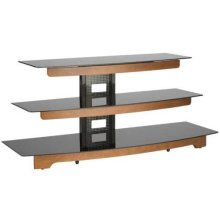 """Audio Video Stand Waterfall design - fits AV components and TVs up to 56"""" - Chestnut"""