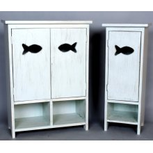 "#481 2 Door Fish Cabinet 24""wx11""dx33""h"