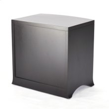 Bow Front Three Drawer Chest-Ebony