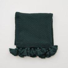 Carlisle Tassel Throw - Emerald