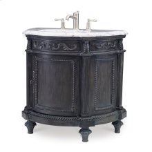 Demilune Sink Chest - Black