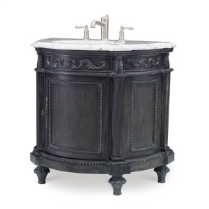 Demilune Sink Chest - Black Product Image