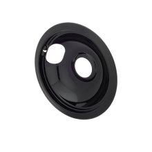Smart Choice 6'' Black Porcelain Drip Bowl, Fits Most