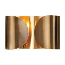Folded Sconce-Antique Brass/Brass-HW