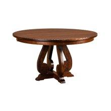 "Burwick Pedestal Table w/1-12"" leaf (aproned)"