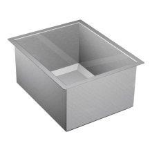 """1600 Series 16""""x20"""" stainless steel 16 gauge single bowl sink"""