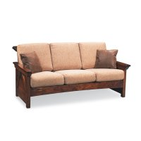 B&O Railroade Trestle Bridge Sofa, Leather Cushion Seat Product Image