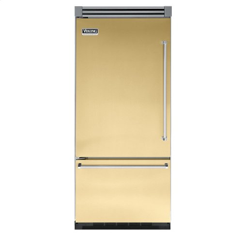 "Golden Mist 36"" Quiet Cool™ Bottom-Mount Refrigerator/Freezer - VIBB Tru-Flush™ (Left Hinge Door)"