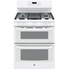 """Scratch and Dent GE® 30"""" Free-Standing Gas Double Oven Convection Range"""