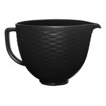 5 Quart Black on Black Textured Ceramic Bowl - Other