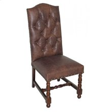 Tufted Leather Side Chair