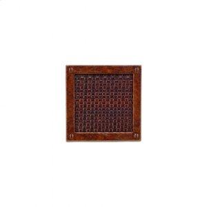 Square Designer Escutcheon - E155 Silicon Bronze Brushed with Acorn Weave Leather Product Image