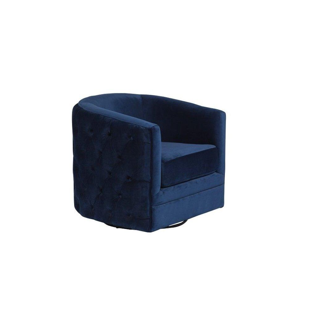 Gabby Navy Blue Swivel Accent Chair, AC507
