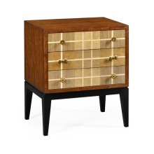 Pale Tartan Two-Drawer Nightstand
