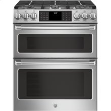 "GE Cafe™ Series 30"" Slide-In Front Control Gas Double Oven with Convection Range***FLOOR MODEL CLOSEOUT PRICING***"