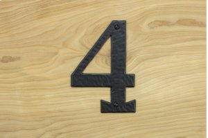"4 Black 6"" Mailbox House Number 450150 Product Image"