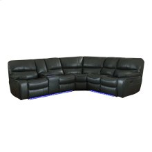 3-Piece Modular Power Reclining Sectional with Left Console and LED