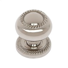 "Polished Nickel 1-1/4"" Rope Knob w/Back Plate"