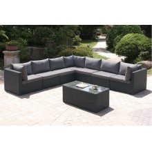 411 / Liz.p31- 8PC OUTDOOR PATIO SOFA SET [P50140(3)+P50142(4)+P50150(1)]