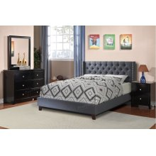 Upholstered Platform Bed Frame (Queen Size)
