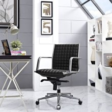 Pattern Office Chair in Black
