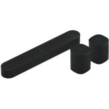 Black- A smart soundbar and rear surrounds for TV, music, and more.