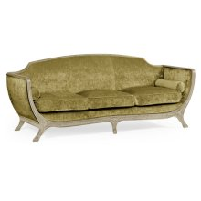 Empire Style Sofa (Painted Country Sage/Velvet Lime)