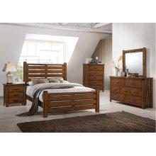 1022 Logan Queen Bed with Dresser & Mirror