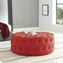 Amour Upholstered Fabric Ottoman in Atomic Red