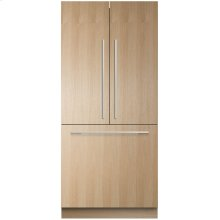 "Integrated French Door Refrigerator Freezer, 36"", 16.8 cu ft, Panel Ready, Ice"