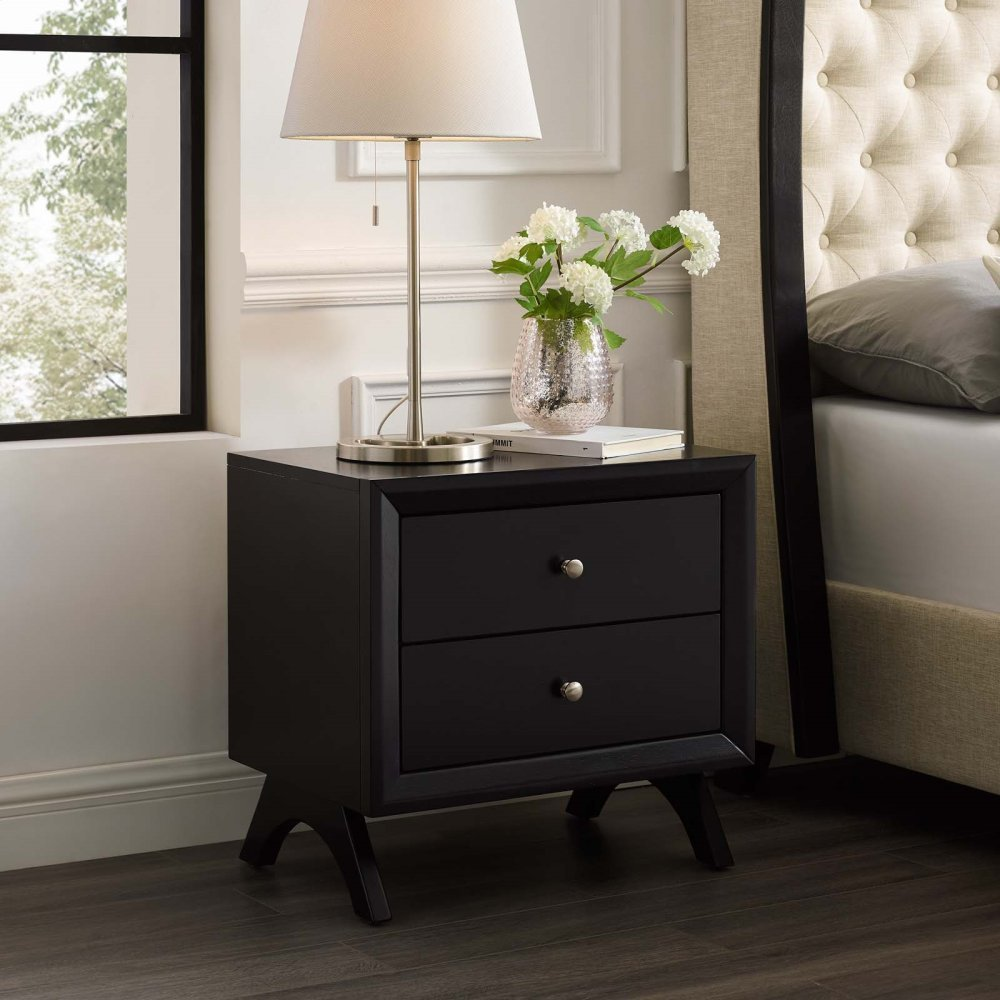 Providence Nightstand or End Table in Cappuccino