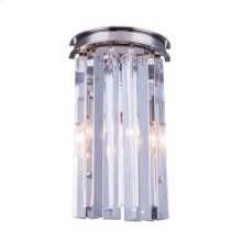 1208 Sydney Collection Wall Lamp Polished Nickel Finish