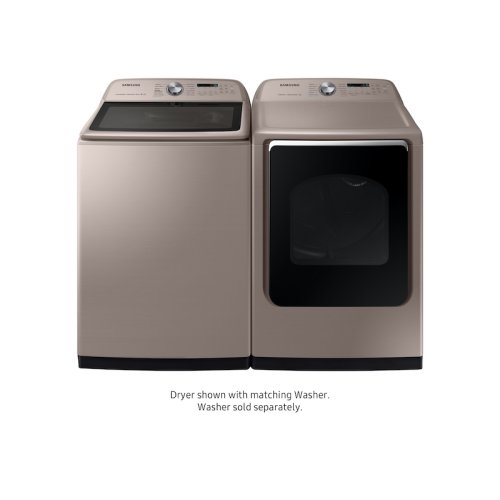 7.4 cu. ft. Gas Dryer with Steam Sanitize+ in Champagne