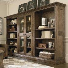 Emporium Smoked Oak Compass Triple Storage Cabinet