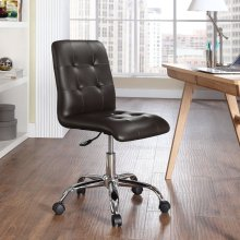 Prim Armless Mid Back Office Chair in Brown