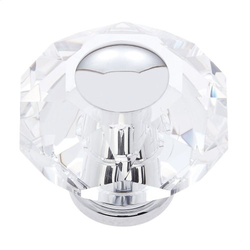Polished Chrome 60 mm 8-Sided Crystal Knob