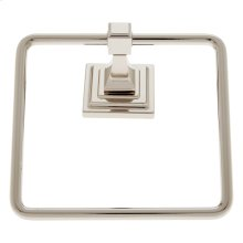 Polished Nickel Gradus Square Towel Ring