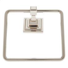 Polished Nickel Gradus Square Towel Ring