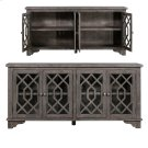 Pembroke Plantation Recycled Pine Distressed Grey 4 Door Sideboard Product Image