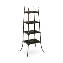 Regency style black four-tier etag re