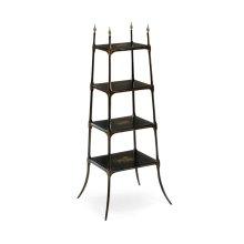 Regency style black four-tier etag re