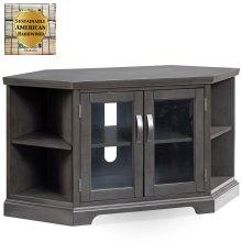 "Gray 46"" Corner TV Console with Bookcases #84287"