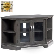 "Gray 46"" Corner TV Console with Bookcases #84287"
