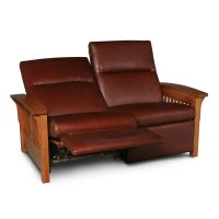 Grand Rapids Loveseat Recliner, Leather Cushion Seat Product Image