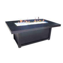 "Outdoor Fire Pit : Natural Gas Venice 58"" x 36"""
