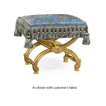 Gilded Footstool with Shell Decoration