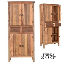 Bengal Manor Cracked Acacia Wood 2 Drawer 4 Door Tall Cabinet