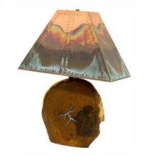 "23"" Mesquite Lamp W/Copper Shade"